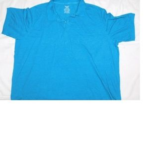 New Mens 3X 56-58 Polo Collar Top Awesome Blue